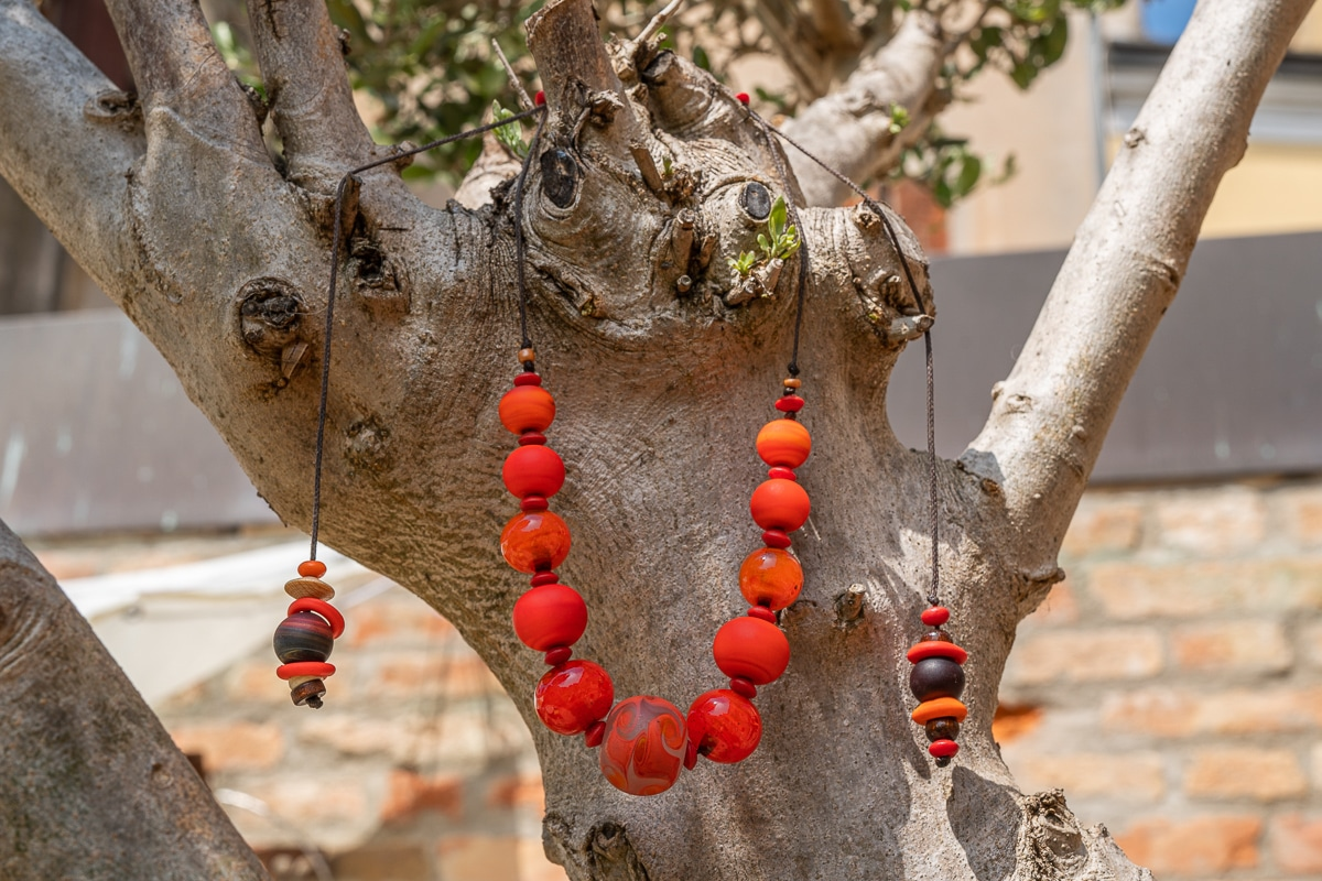 """""""Murano Oranges"""" Necklace Shop by Venezia Autentica - Shop by Venezia Autentica - Beautiful, fresh and cool Murano Glass necklace, designed and handmade in Venice, Italy. Every bead, crafted by lampworking, is unique, beautiful, and durable!"""