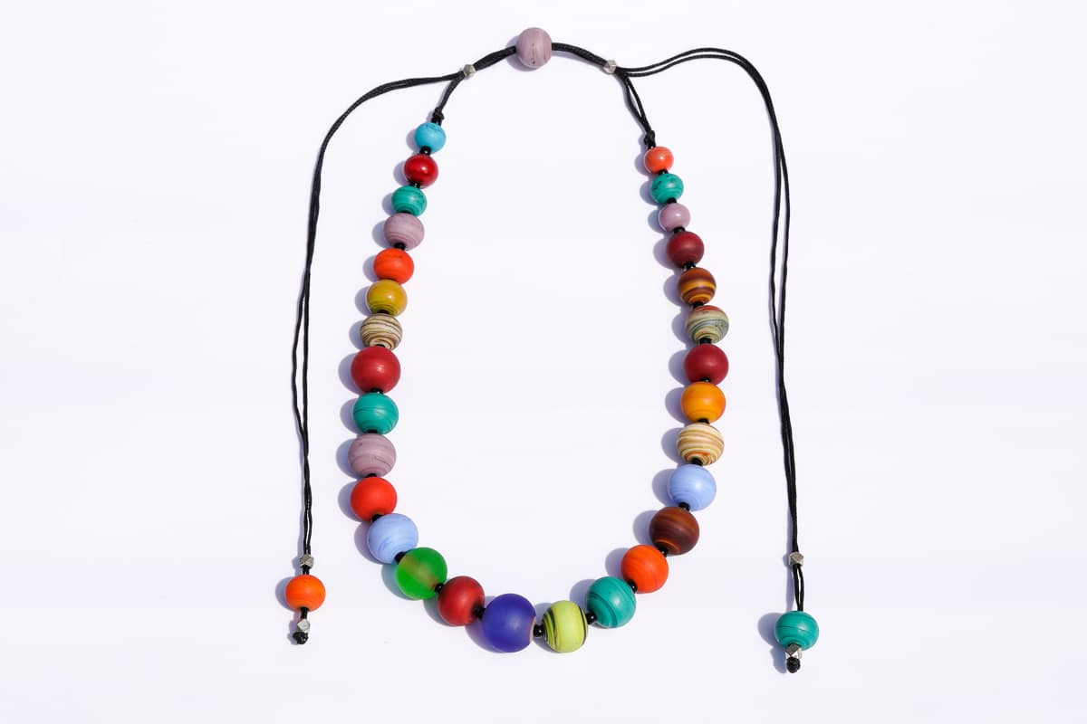 """""""Planetary Joy"""" Necklace Shop by Venezia Autentica - Shop by Venezia Autentica - Imagine collecting all the most intense colors and creating a necklace out of it. Well, that's what we did with this Murano Glass necklace, made 100% in Venice!"""
