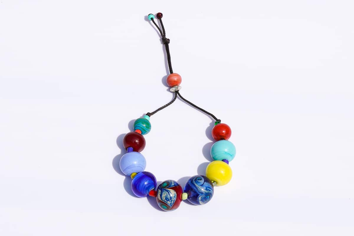 """Spring Charm"" Bracelet Shop by Venezia Autentica - Shop by Venezia Autentica - Beautiful and colorful Murano Glass bracelet, designed and handmade in Venice, Italy. These beautiful beads help you put the colors of Spring on your wrist!"